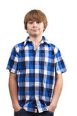 Cute smart happy smiling young boy — Stock Photo
