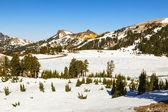 Neige au mont lassen dans le parc national — Photo