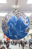 Photokina - World of Imaging, Globe as a symbol of worldwide ph — Stock Photo