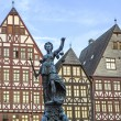 Lady Justice in Frankfurt at the Roemer place — Stock Photo