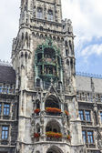 Clock of the old City Hall at Marienplatz in Munich, Germany — Stock Photo