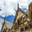 Famous hospice in Beaune, France - Stok fotoğraf