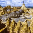 Ain temples of jaisalmer in rajasthan state in india — Stock Photo