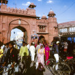 Pass the gate to the  Junagarh Fort - Stock Photo