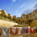 Beautiful panorama of the Golden Fort of Jaisalmer, India — Stock Photo