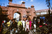 Pass the gate to the Junagarh Fort — Stock Photo