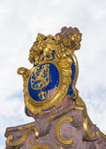 The golden emblem of Hesse in germany, the lion — Stock fotografie