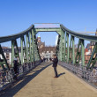 On bridge eiserner Steg in Frankfurt, Germany. — Stock Photo #13546938