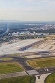 антенна аэропорта рейн майн — Стоковое фото