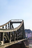 Bridge eiserner Steg in Frankfurt, Germany. — Stock Photo
