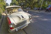 Ambassador car parks at the street — Stock Photo