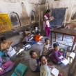 Children study in village's school in Mandawa, India. — Stok fotoğraf
