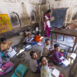 Children study in village's school in Mandawa, India. — Foto de Stock