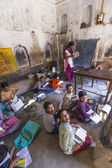 Children study in village's school in Mandawa, India. — Stock Photo