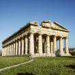Ancient Temple of Hera built by Greek colonists, in Paestum, Ita - Stock Photo