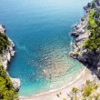 Beautiful beach at the amalfitana in Italy - Foto de Stock
