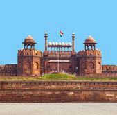 архитектурная деталь lal qila - красный форт в дели, индия — Стоковое фото