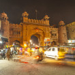 Stock Photo: Gate in old city of Bikaner rajasthstate in india