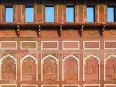 Jahangiri Mahal in the red Fort in Agra — Stock Photo