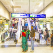 Passengers alighting metro train — Stock Photo #15293175