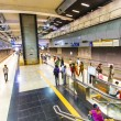 Passengers alighting metro train — Foto Stock