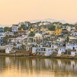 Lake view to the ghats of Pushkar — Foto Stock