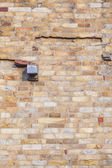 Stones at the wall of Qutub Minar Tower, the tallest brick minar — Stock Photo