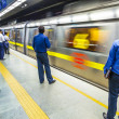 Passengers alighting metro train — Stock Photo #15702483