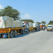 Lorry transports huge marble stones - Foto Stock