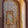 Beautiful windows with ornaments in islamic style inside humayun - Stok fotoğraf