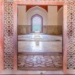 Stock Photo: Inside humayuns tomb with marble tomb