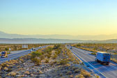 Interstate 10 direction Blythe in sunset — Stock Photo