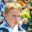 Boy is looking angry and disappointed  from soccer playing - Foto de Stock