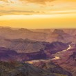 Sunset at the Grand Canyon seen from Desert View Point, South Ri — Stock Photo #16627341