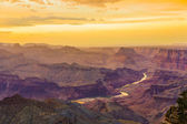 Sunset at the Grand Canyon seen from Desert View Point, South Ri — Stock Photo