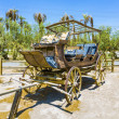 Old historic stage wagons at the ranch - Stock Photo