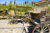 Old historic stage wagons at the ranch — Stock Photo