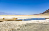 Badwater, djupaste punkten i usa, saltsee blandat med mineraler — Stockfoto