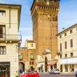 Torre di Castello in Vicenza, old historic fortress building — Stock Photo