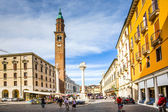 Torre di Piazza at the Piazza dei Signor in Vicenca, town of Pal — Stock Photo