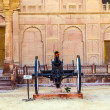 Canon in old fort in Bikaner — Stock Photo