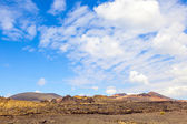 Famous volcanoes of Timanfaya National Park — Stock Photo