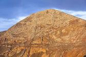 Wschód słońca na stary wulkan w femes, lanzarote — Zdjęcie stockowe