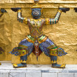 Guards of the Temple of the Emerald Buddha, Wat Phra Kaeo in the — Stock Photo