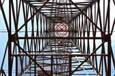Electricity tower with blue sky — Stock Photo