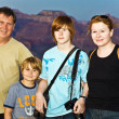 Royalty-Free Stock Photo: Family at south rim , Grand canyon family photo