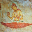Frescos of ladies in Sigiriya style at the palace of Kashyapa, — Stock Photo