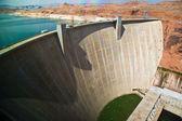 Glen Canyon Dam near Page at the colorado river — Stock Photo