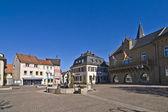 Storico medievale piazza del mercato a bad soberan — Foto Stock