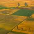 Rural landscape with acre from hot air balloon in Frankfurt — Stock Photo